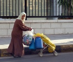 Woman with a lot of luggage